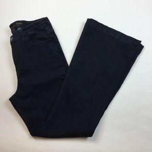Soft Surroundings Daria flare Jeans 8 Stretch E14